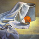 White Cloth with Orange